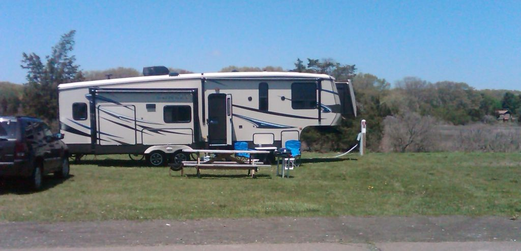 Camping at Hammonasset State Park